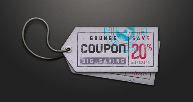 ticket coupon sale tag psd miscellaneous pixeden
