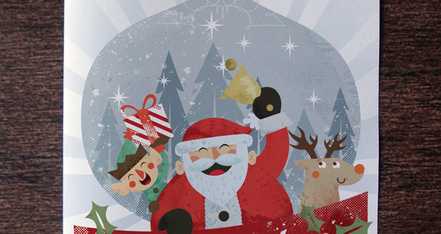 christmas card invitation template