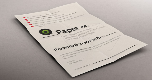 Psd a4 paper mock up presentation psd mock up templates pixeden title title title pronofoot35fo Images