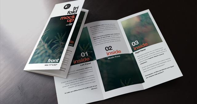 Psd Tri Fold Mockup Template Vol2 Psd Mock Up Templates