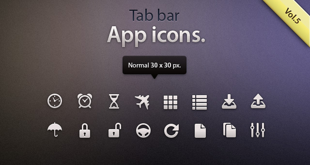 tab bar icons ios vol5