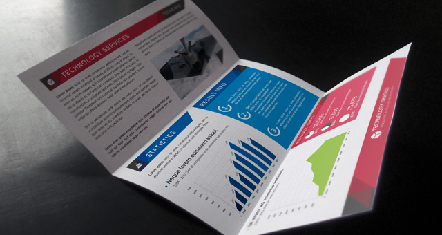Technology Tri Fold Brochure Brochure Templates Pixeden - Technology brochure template