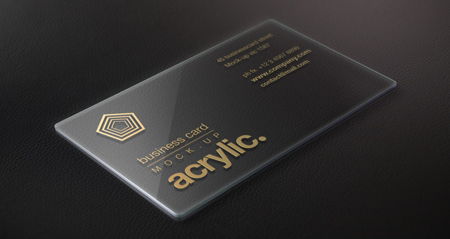 Acrylic Psd Business Card Mock Up