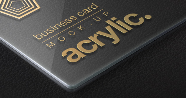 acrylic psd business card mock