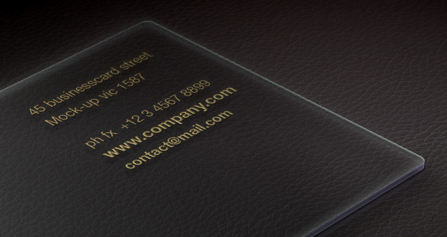 Acrylic psd business card mock up psd mock up templates pixeden acrylic psd business card mock up title title title reheart Images