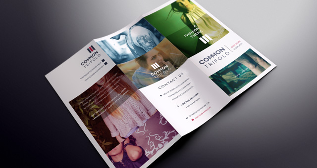Simple Tri Fold Brochure Template Brochure Templates Pixeden - Tri fold brochures templates