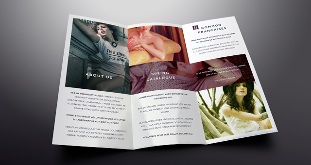 Simple Tri Fold Brochure Template | Brochure Templates | Pixeden