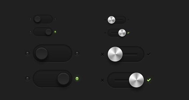 dark essential switches psd
