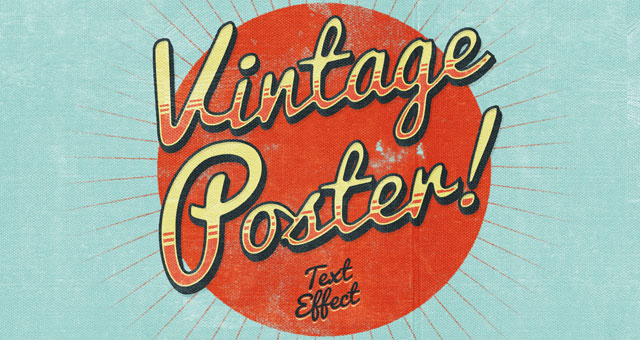 Psd Poster Vintage Text Effect Photoshop Text Effects