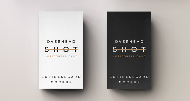 Psd Overhead Shot Business Card Psd Mock Up Templates