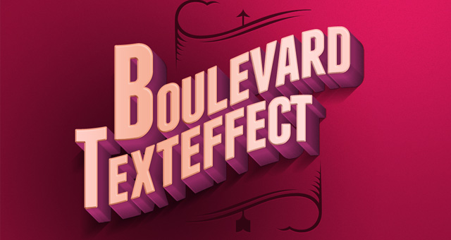 Psd Boulevard Retro Text Effect Photoshop Text Effects
