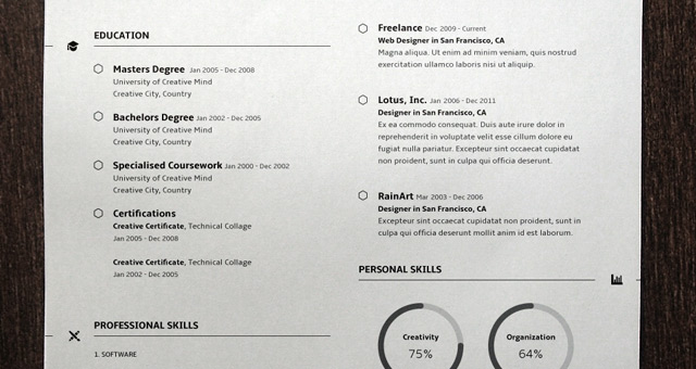 Simple Resume Template Vol3. Title Title Title Title Title