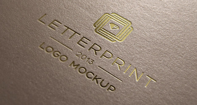 Gold Relief Logo Mock Up Template Psd Mock Up Templates