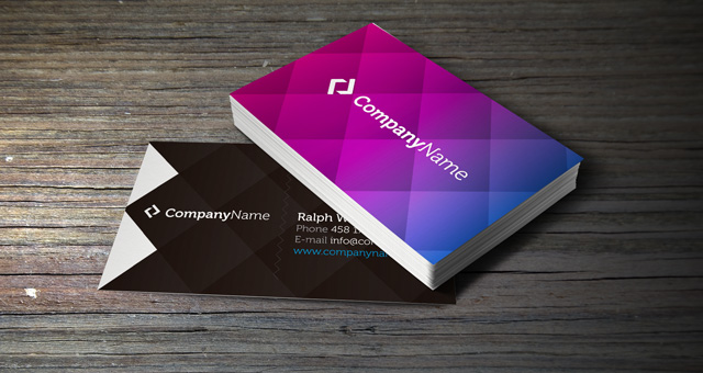 Corporate Business Card Vol Business Cards Templates Pixeden - Business card template with photo