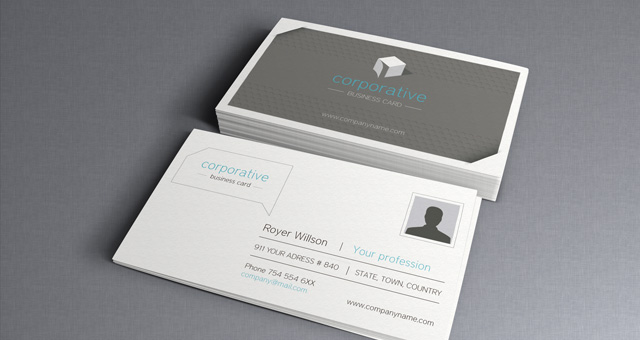 Corporate business card vol 2 business cards templates pixeden corporate business card vol 2 flashek Image collections