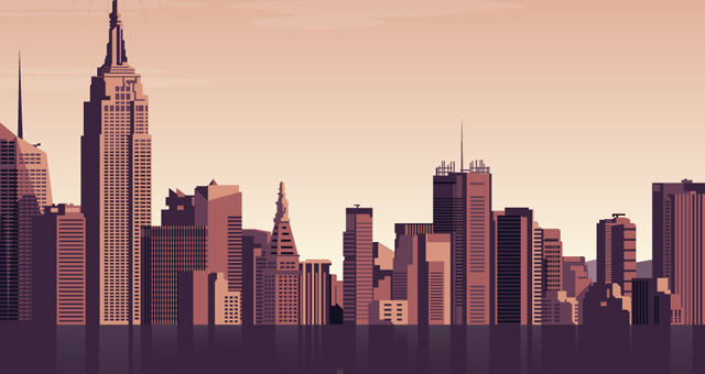 Vector City Skyline Vol2 Decorative Vectors Pixeden
