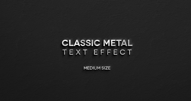 Classic Metal Psd Text Effect Photoshop Text Effects