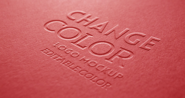 embossed logo mock