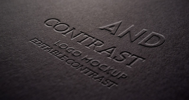 Embossed Logo Mock Up Template Psd Mock Up Templates