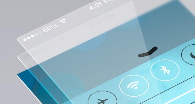 perspective app screen mock