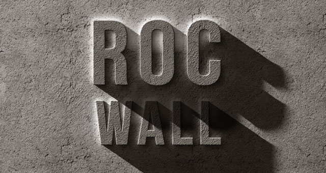 psd concrete rock text effect