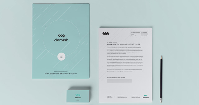 Stationery Branding Mock Up Vol 1 2 Psd Mock Up