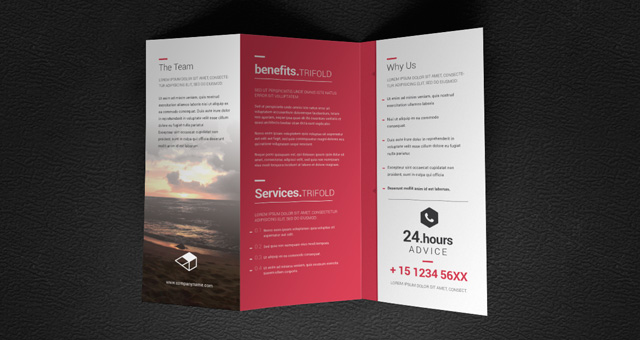 Doma tri fold brochure template brochure templates pixeden for Tri brochure template