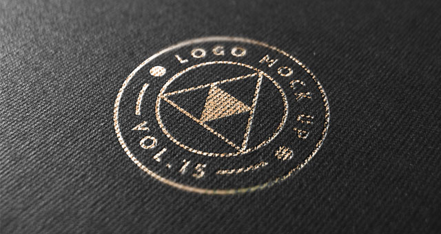 gold print logo mock up template psd mock up templates pixeden