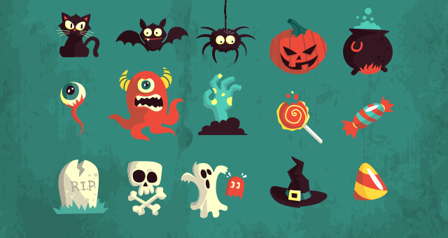 Halloween Vector Art Pack Vol2 Conceptual Vectors Pixeden