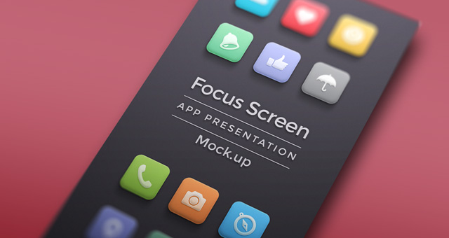 002-app-focus-screen-presentation-mock-up-blur Template App Mobile Psd on for educational, profile page design, online store design, create new, support page, home screen, marketing playbook, organizational chart,