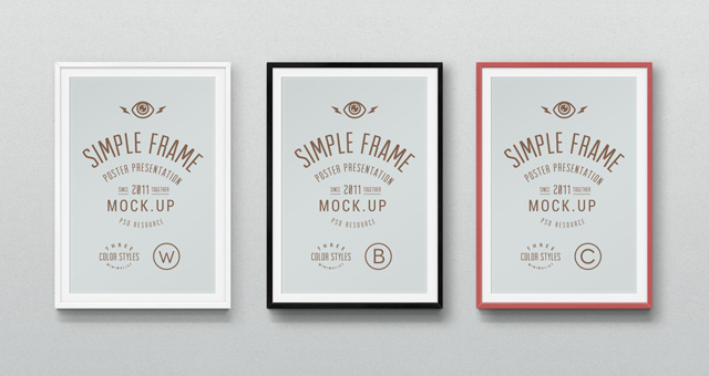 Psd Poster Mockup Presentation Vol3 Psd Mock Up