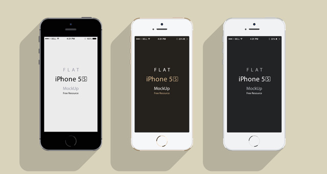 iPhone 5S Psd Flat Design Mockup | Psd Mock Up Templates ...