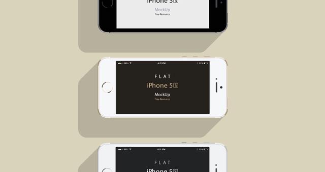 iphone 5s psd flat design mockup title title title title - Iphone 5s Mockup Free