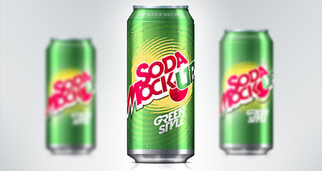 Soda Can PSD Mock-Up Template 01