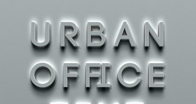 psd urban office text effect