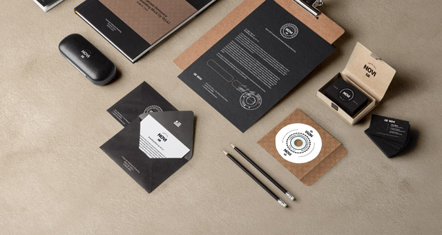 stationery branding mock up vol 4-1 | psd mock up templates | pixeden, Powerpoint templates