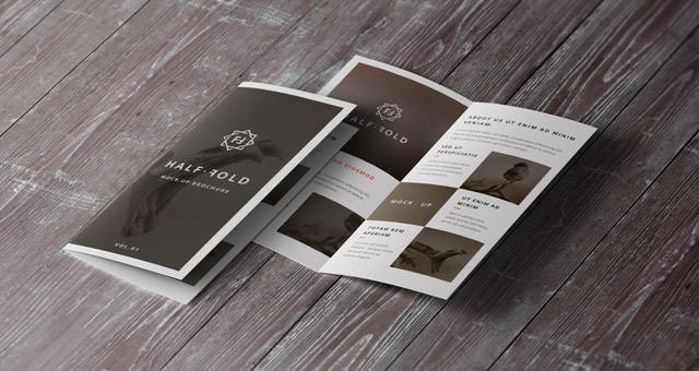 brochure mockup template - psd bi fold mockup template vol1 psd mock up templates