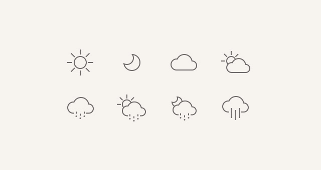weather icons ios 7