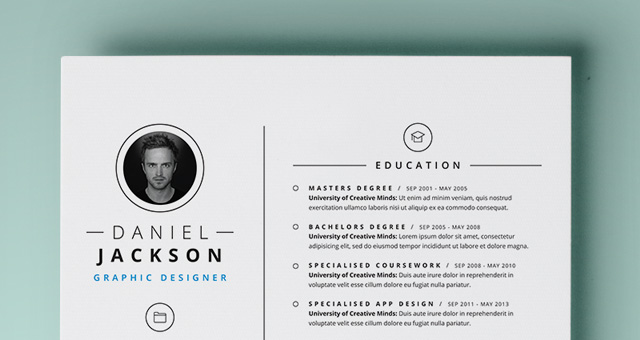 Simple resume template vol4 resumes templates pixeden title title title title yelopaper