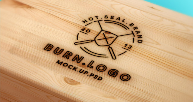 Wood Burning Logo Mock Up Template Psd Mock Up Templates