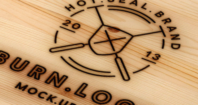 Wood Burning Logo Mock-Up Template | Psd Mock Up Templates ...