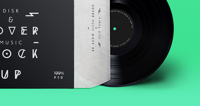 Psd Vinyl Cover Record Mock Up Psd Mock Up Templates