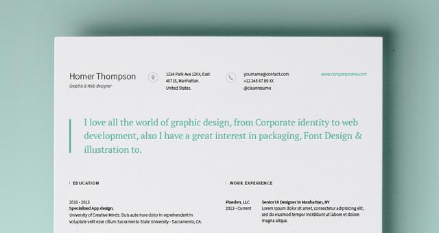 simple resume template vol5 resumes templates pixeden