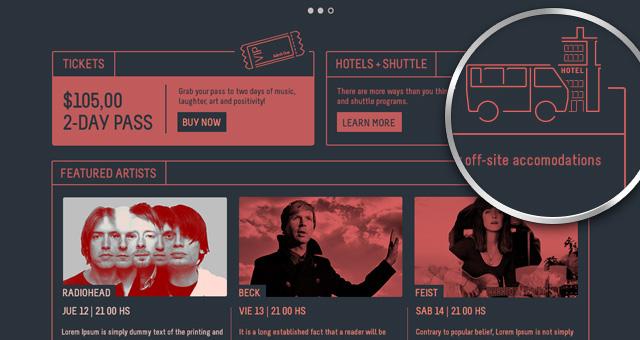 Psd Festival Event Website Template Psd Web Templates Pixeden - Event website template