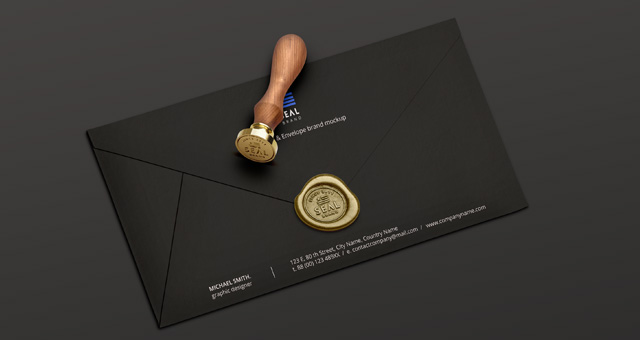 Psd Wood Wax Seal Stamp Mockup Psd Mock Up Templates