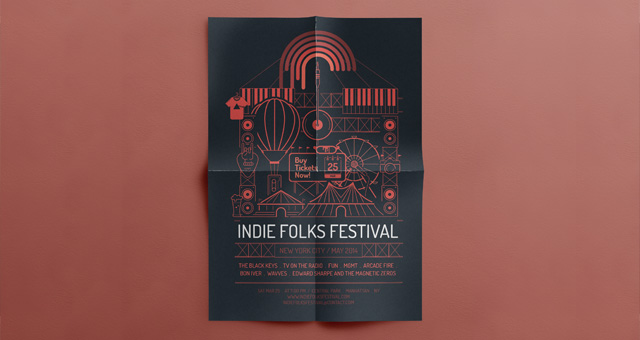 Festival Event Flyer Template  Flyer Templates  Pixeden