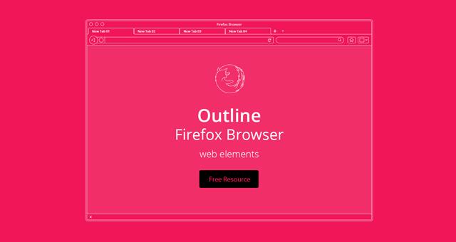 vector browser outline presentation