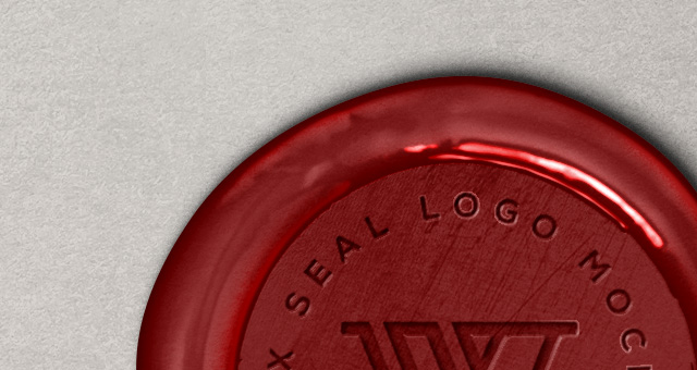 wax seal logo mock