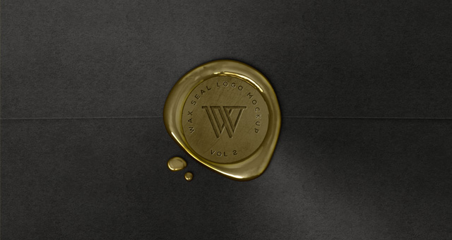 Wax Seal Logo Mock-Up Template Vol2 | Psd Mock Up ...
