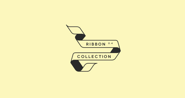 Outline Flat Ribbon Vector Set Decorative Vectors Pixeden
